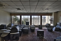 A Heard of Televisions Attempting to Escape an Abandoned HotelResort