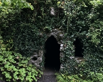 A Hermits Cave on the grounds of Dromoland Castle in County Clare Ireland Inscription lower left of doorway reads AD