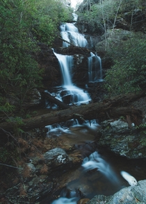 A hidden  foot waterfall found in North Carolina No trail not listed on any maps  second exposure f ISO- mm