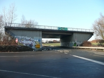 A highway bridge near Castrop-Rauxel Germany - built  but not connected on either end