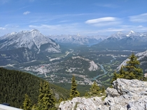 A hike to a view like this is definitely worth it Sulphur Mountain Lookout Banff National Park