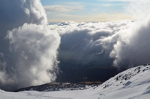 A hole in the clouds- From Mt Etna Sicily