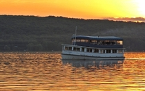 A hot summer evening on Cayuga Lake Ithaca NY
