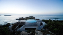 A House On A Cliff By Gabriel Orozco And Tatiana Bilbao in Roca Blanca Mexico