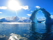 A Huge Ice Arch - Antarctica Coastline