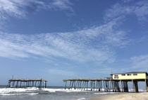 A Hurricane-Ravaged Pier in the Outer Banks