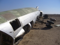 A junked Iraqi Tu- Blinder fuselage at Al Taqaddum Iraq