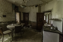 A kitchen stuck in time inside an abandoned house in Ontario Canada OC X