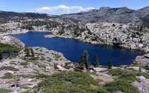 A lake I explored today in the California Sierra