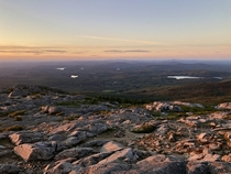 A late-summer sunset from Mount Monadnock NH USA