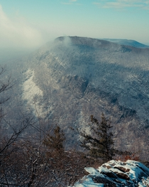 A Light Dusting of Snow on The Delaware Water Gap NJPA