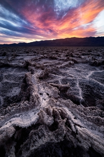 A little bit of fire in Badwater Basin Death Valley CA  IG  mattfloresfoto