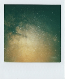 A little bit of Milky Way Core and some Rho-Ophiuchus Complex I took on my Polaroid Camera