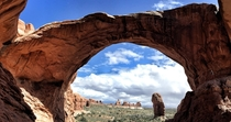A little Earthporn for the Double Arch in Utah