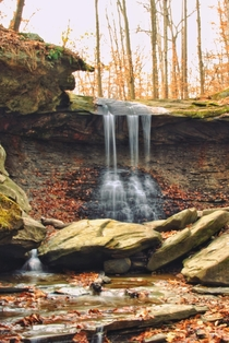 A little fall hiking to a waterfall Blue Hen Falls  Cuyahoga Valley National Park OH
