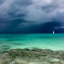 A little storm in Cancun Mexico