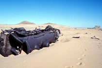 A locomotive from the Ottoman Empire sits abounded in the desert after it was derailed by Lawrence of Arabias forces  years ago