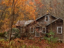 A long abandoned cottage in the Millionaires Row neighborhood of Elkmont Tennessee The ghost town of Elkmont was a victim of eminent domain purchased by the National Park Service in order to expend the Great Smoky Mountains National Park