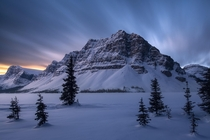 A long exposure at first light - Canadian Rockies Alberta Canada  seanhphotography