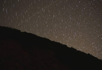 A long exposure I took trying to capture some of the Lyrid meteor shower
