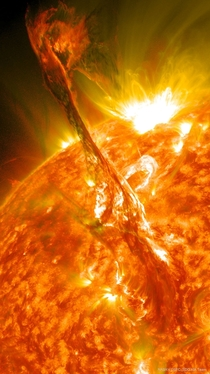 A long standing solar filament erupted into space producing an energetic Coronal Mass Ejection The Suns ever changing magnetic field held the CME for days