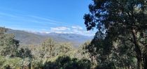 A look out of Mt Kosciuszko from a lookout New South Whales Australia
