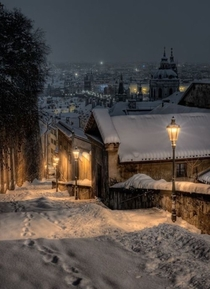 A magical winters night in Prague xpost rpics uTopdeBotton