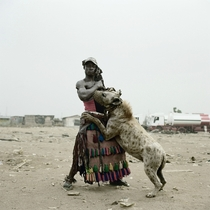 A Man And A Hyena
