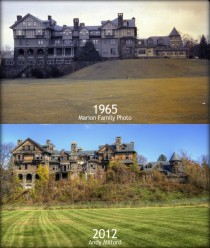 A mansion then and now