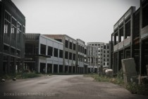 A massive abandoned partially-finished shopping plaza that looks like a ghost town itself may be one of suburban Detroits most spectacular ruins