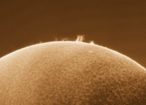 A massive eruption on the sun