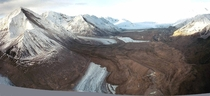 A massive landslide covers Black Rapids Glacier after the Denali Fault Earthquake