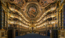 A masterpiece of Baroque theatre architecture built between  and  Margravial Opera House of Bayreuth in Germany is the only entirely preserved baroque court of its kind It was designed by the renowned theatre architect Giuseppe Galli Bibiena