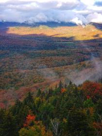 A mesmerizing morning in the Adirondacks today Fall foliage was a cherry on top