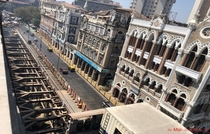 A metro station under-construction in Mumbai