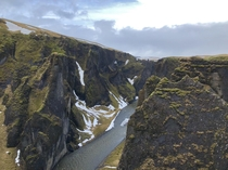 A midwinter day at Fjarrgljfur canyon Iceland