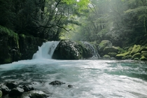 A mini waterfall in Kikuchi-shi Kumamoto Prefecture Japan  Photographed by Cate