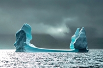 A moody iceberg in Greenland