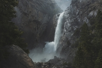 A Moody Lower Yosemite Falls