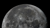 A moon mosaic built from  individual images capture on the st of October
