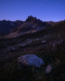 A moonlit night - somewhere in the French Alps