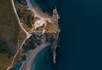A more unique angle of Durdle Door Dorset UK