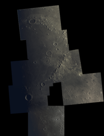 A mosaic of The Moon