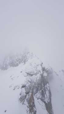 A mountain emerges from the mist  Dachstein Austria x