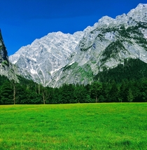 A mountain surrounding the Knigssee in Bavaria