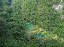 a natural limestone bridge formation - Semuc Champey- full album in the comments OCx