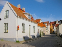 A neat row of houses in Visby Sweden