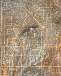 A network of vacant roads in California City California which was originally designed to rival Los Angeles in size but fell far short of expectations
