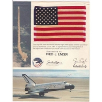 A new item in my space flown collection an American flag flown into orbit on STS-