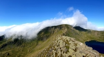 A nice quiet trek along striding edge yesterday morning